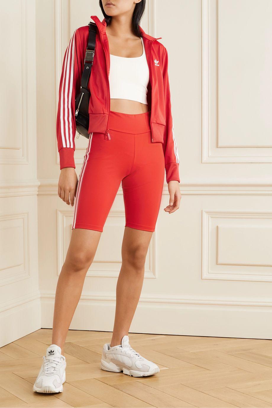 adidas Originals Shorts aus Stretch-Jersey mit Streifen