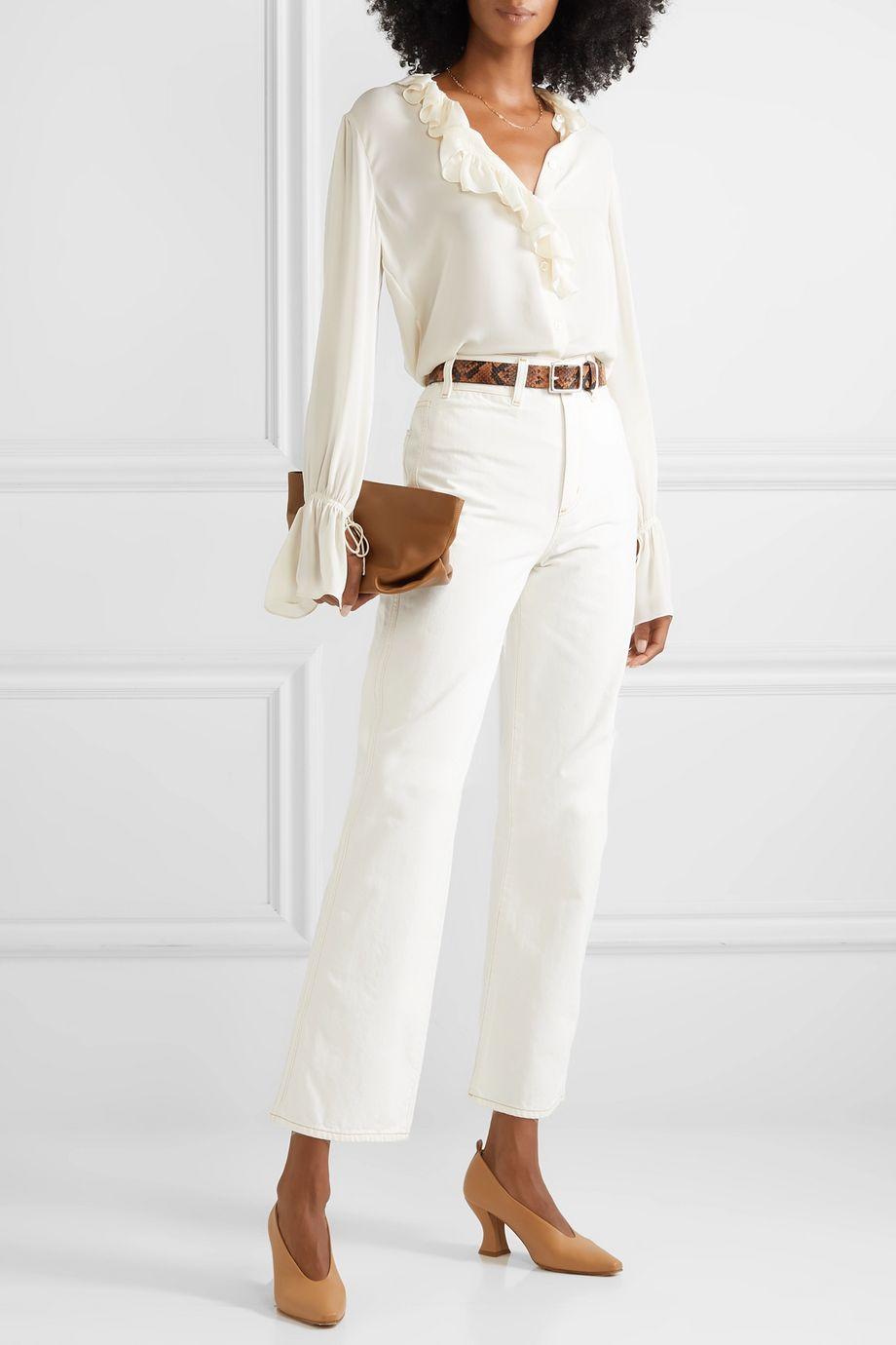 Nili Lotan Cecily ruffled silk-georgette blouse