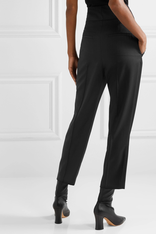 Nili Lotan Reta cropped wool-blend twill straight-leg pants