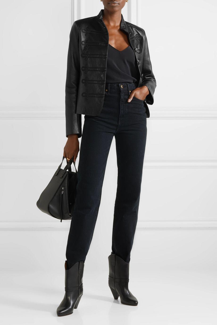 Nili Lotan Jules embroidered leather jacket