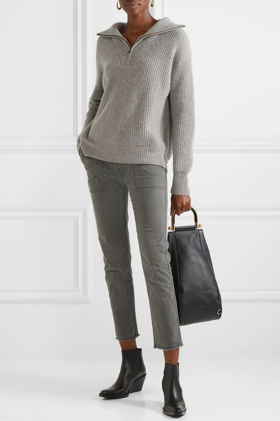 Nili Lotan Jenna stretch-cotton twill straight-leg pants