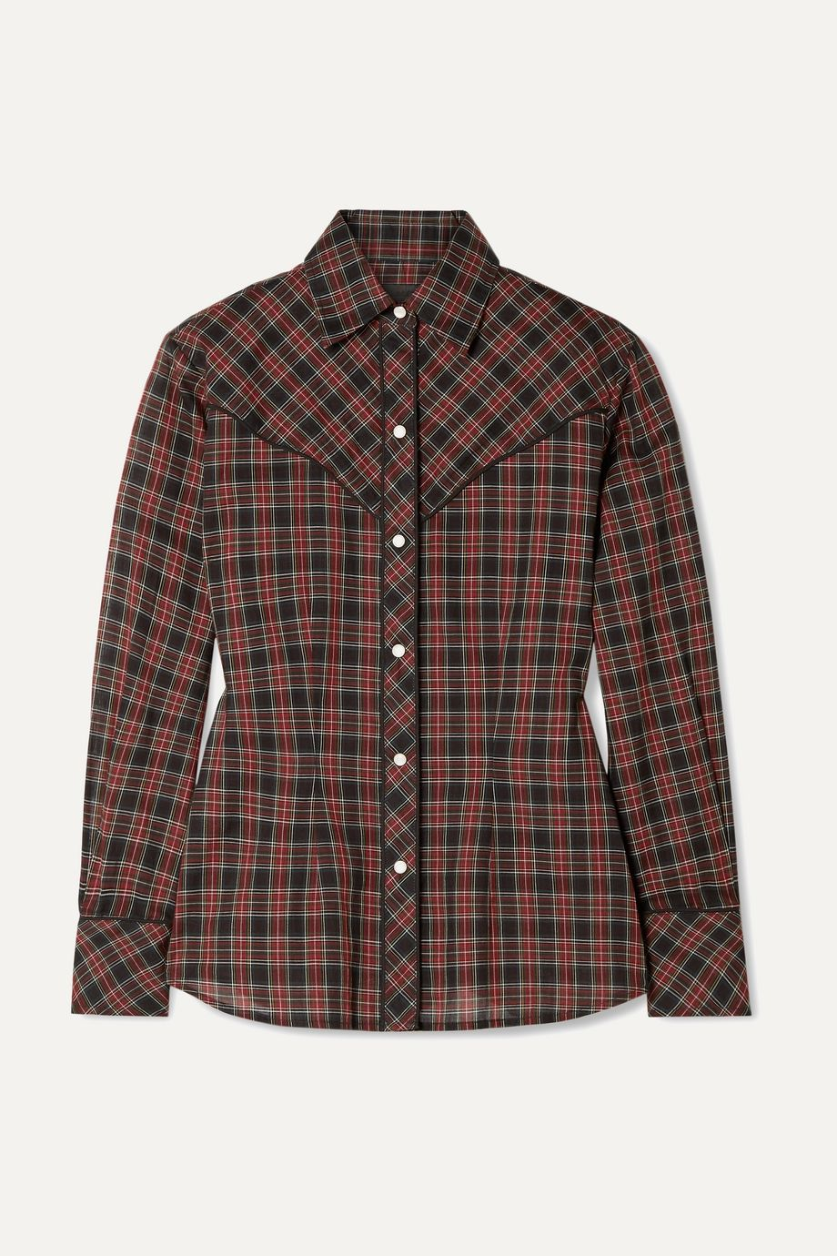 Nili Lotan Ada checked cotton-voile shirt