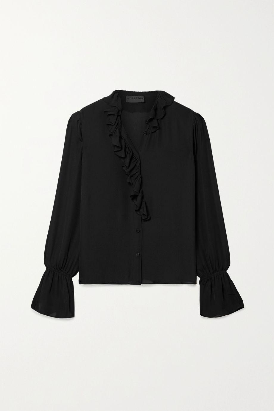 Nili Lotan Cecily ruffled silk-chiffon shirt
