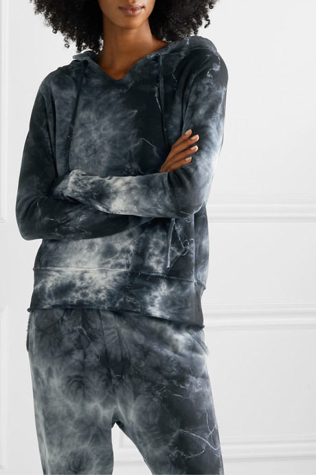 Janie tye-dyed cotton-jersey hoodie