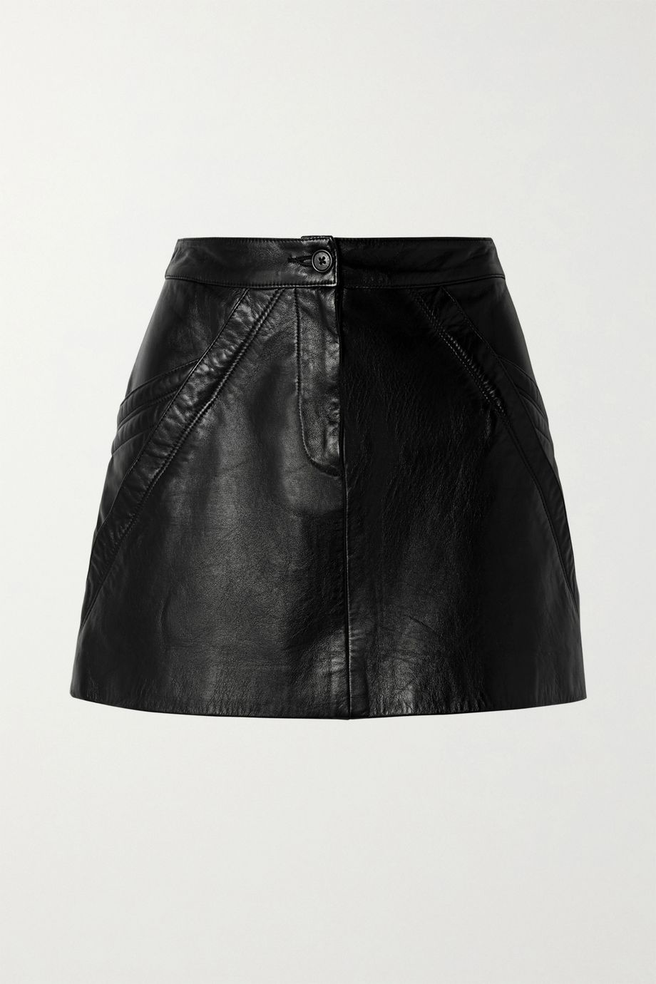 Nili Lotan Kade paneled leather mini skirt