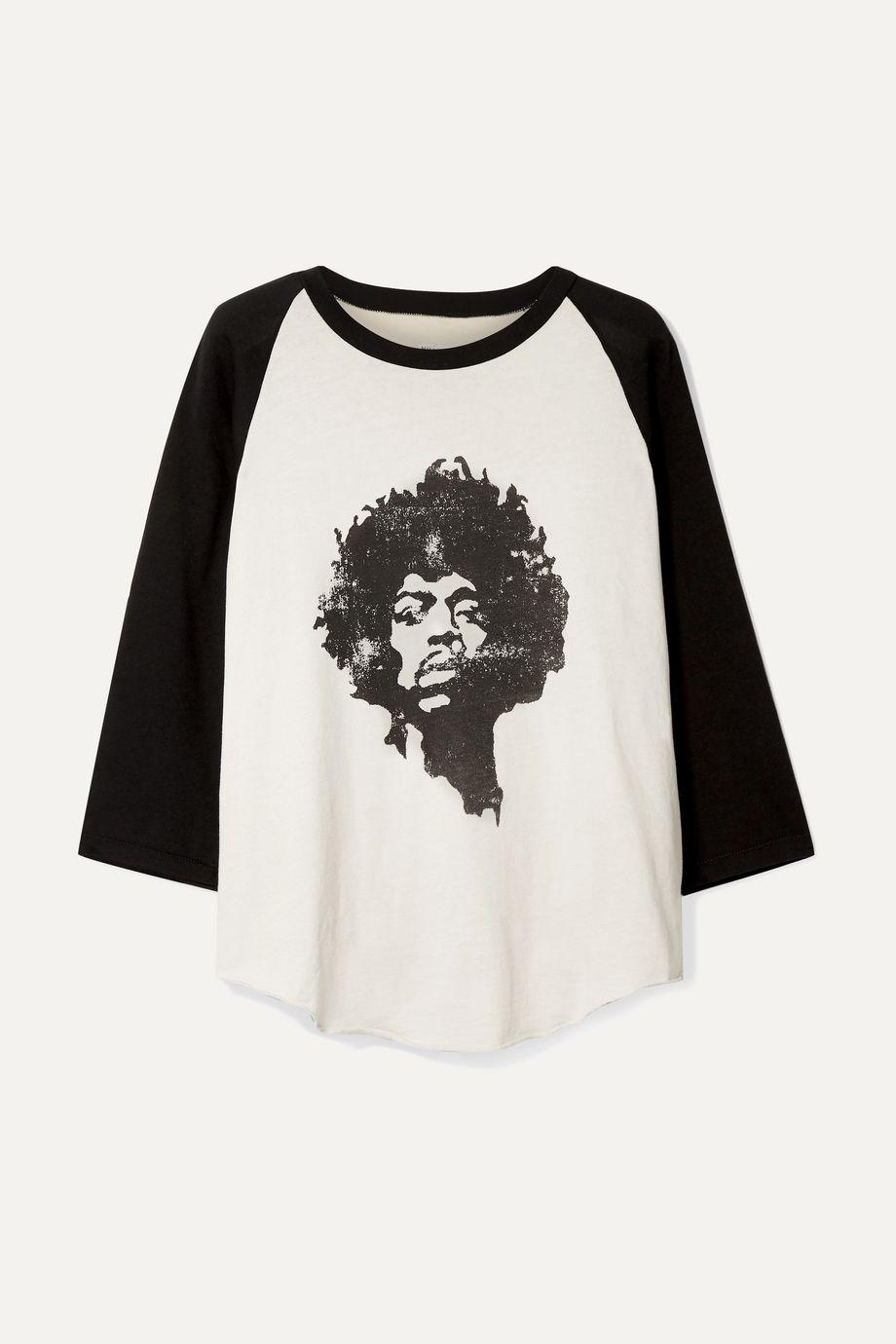 Nili Lotan Printed cotton-jersey top