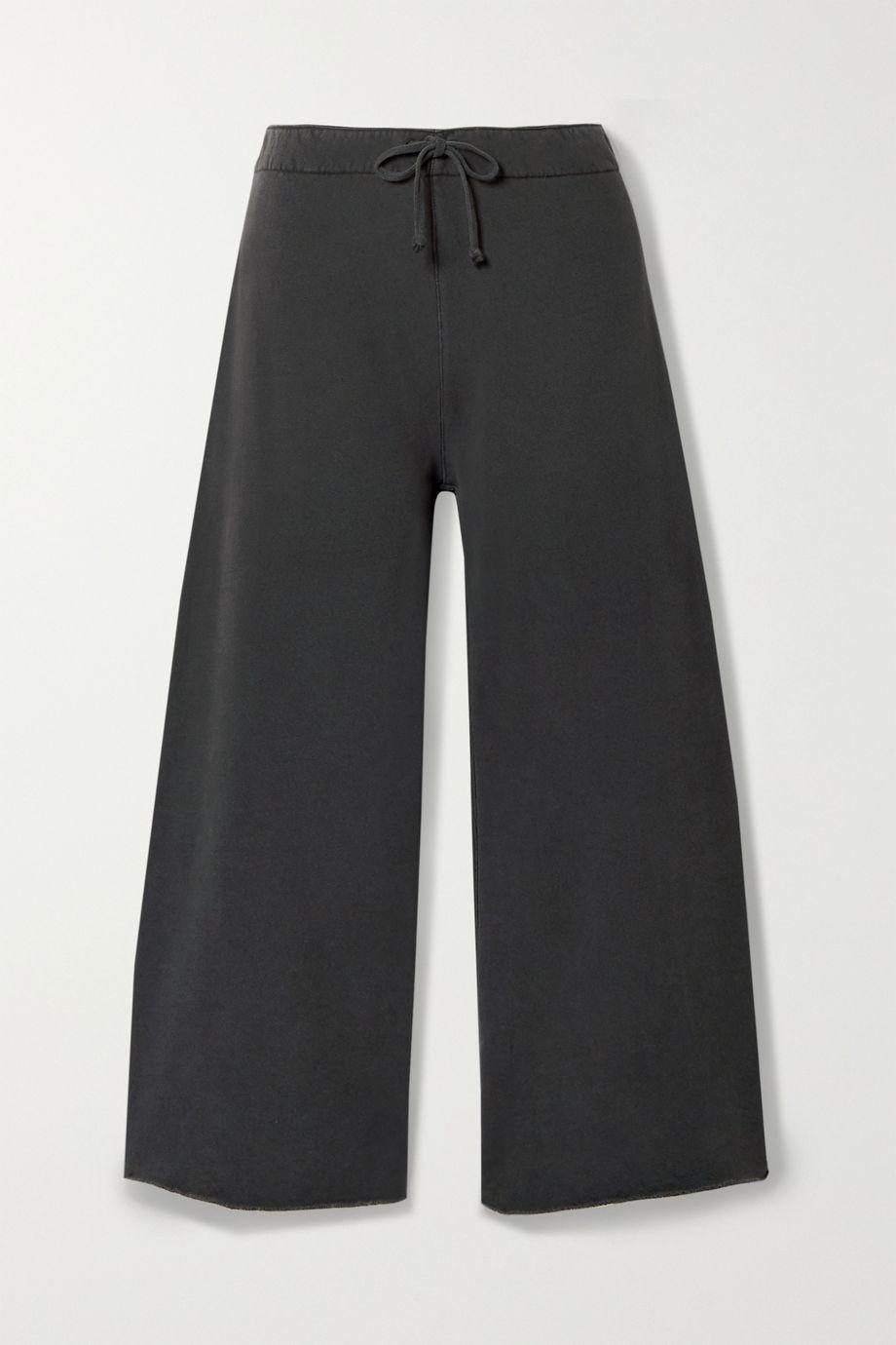 Nili Lotan Kiki cropped voile-trimmed cotton-jersey track pants