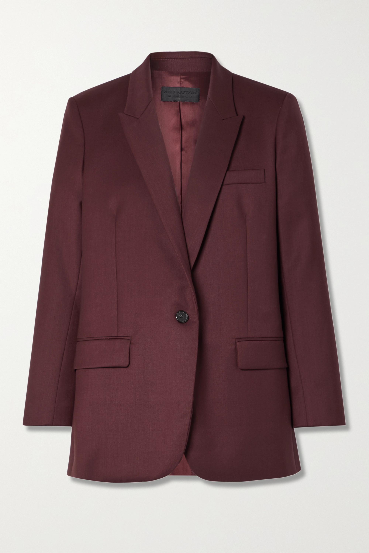 Nili Lotan Diane 羊毛混纺斜纹布西装外套