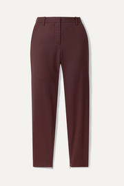 Leo wool-blend twill tapered pants