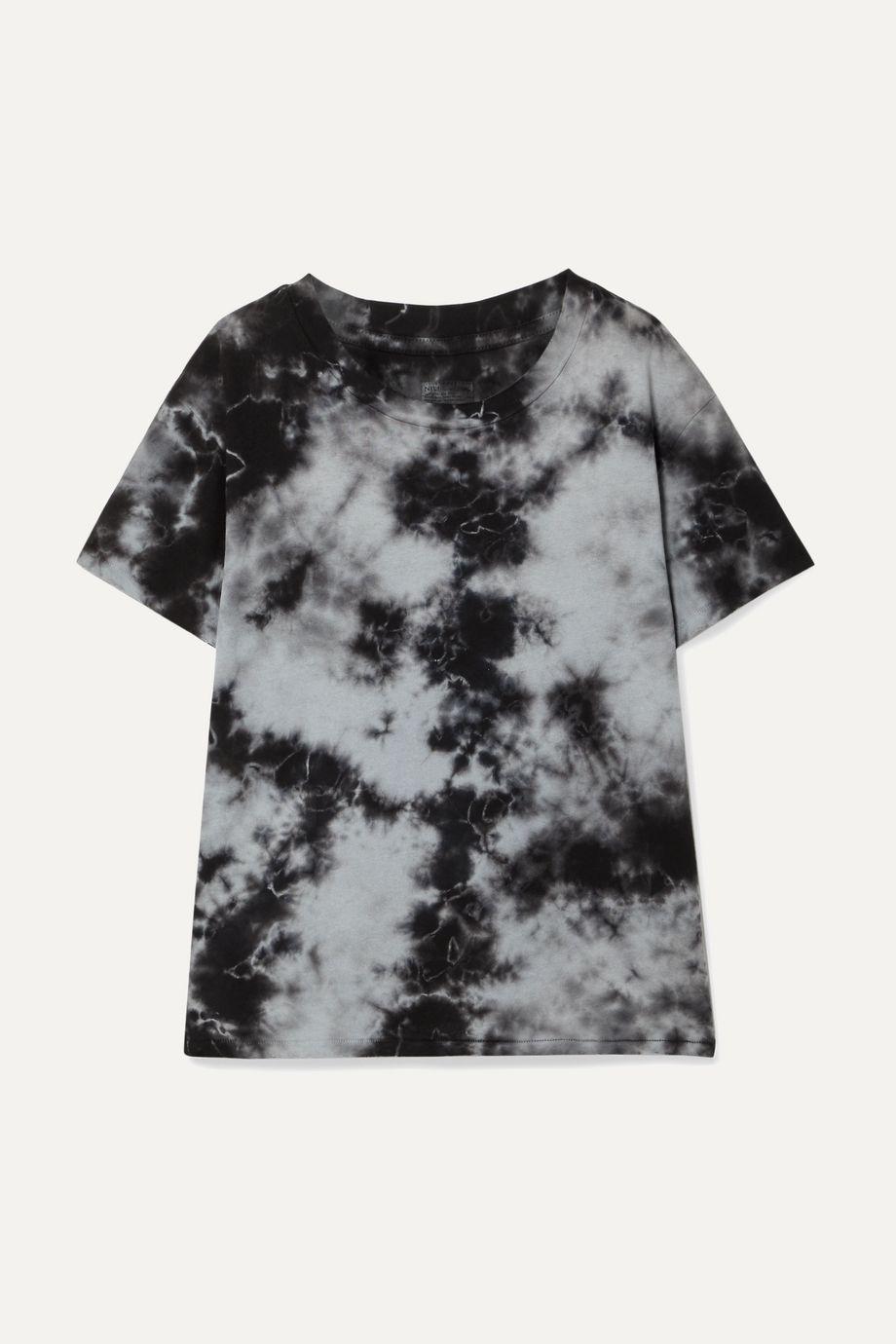 Nili Lotan Brady distressed tie-dyed cotton-jersey T-shirt