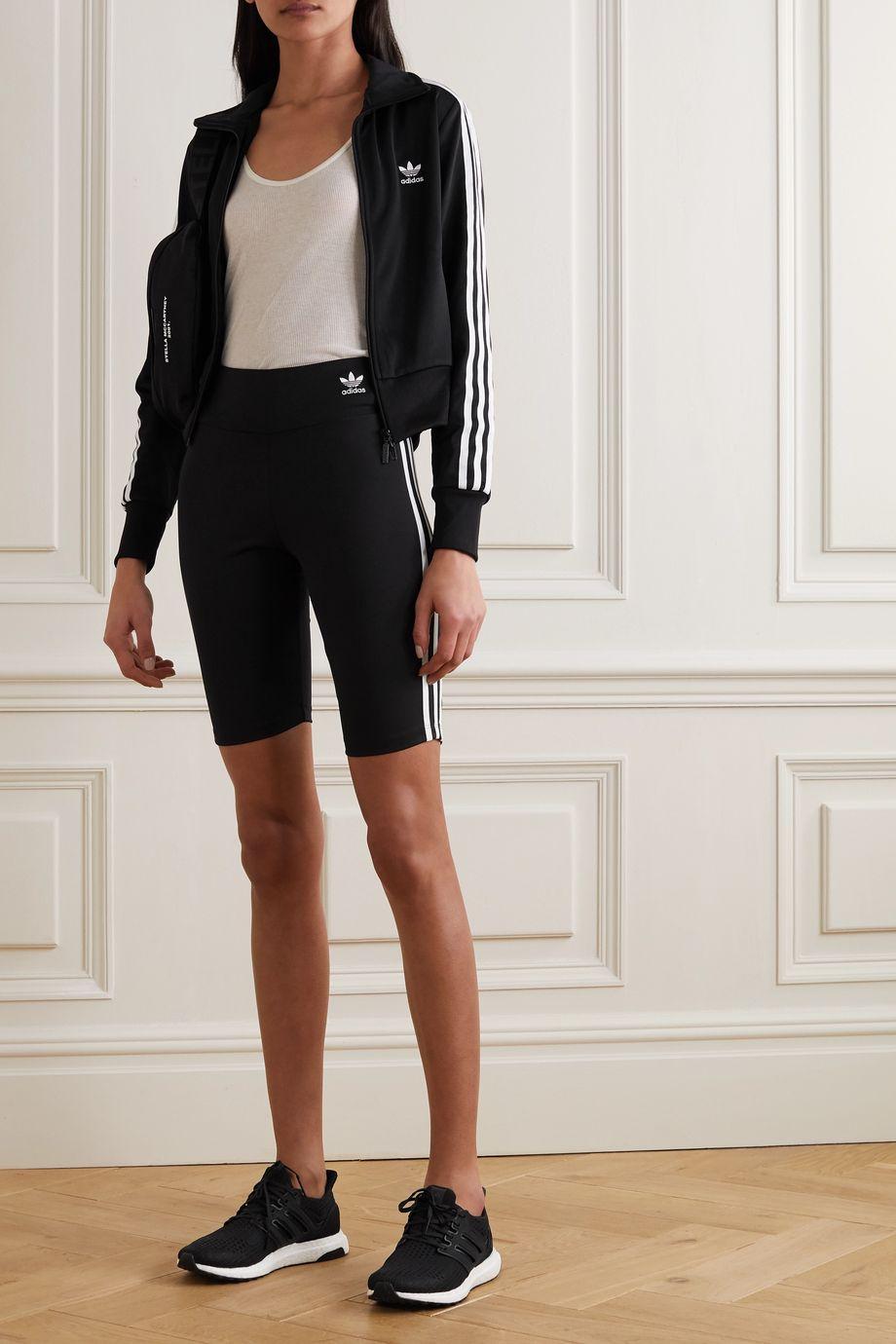 adidas Originals Striped stretch-jersey shorts