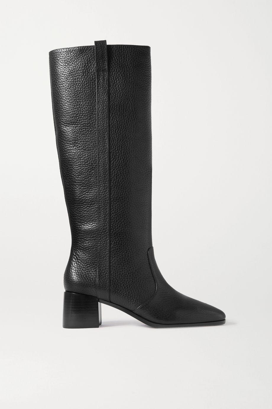 Loeffler Randall Ryan textured-leather knee boots