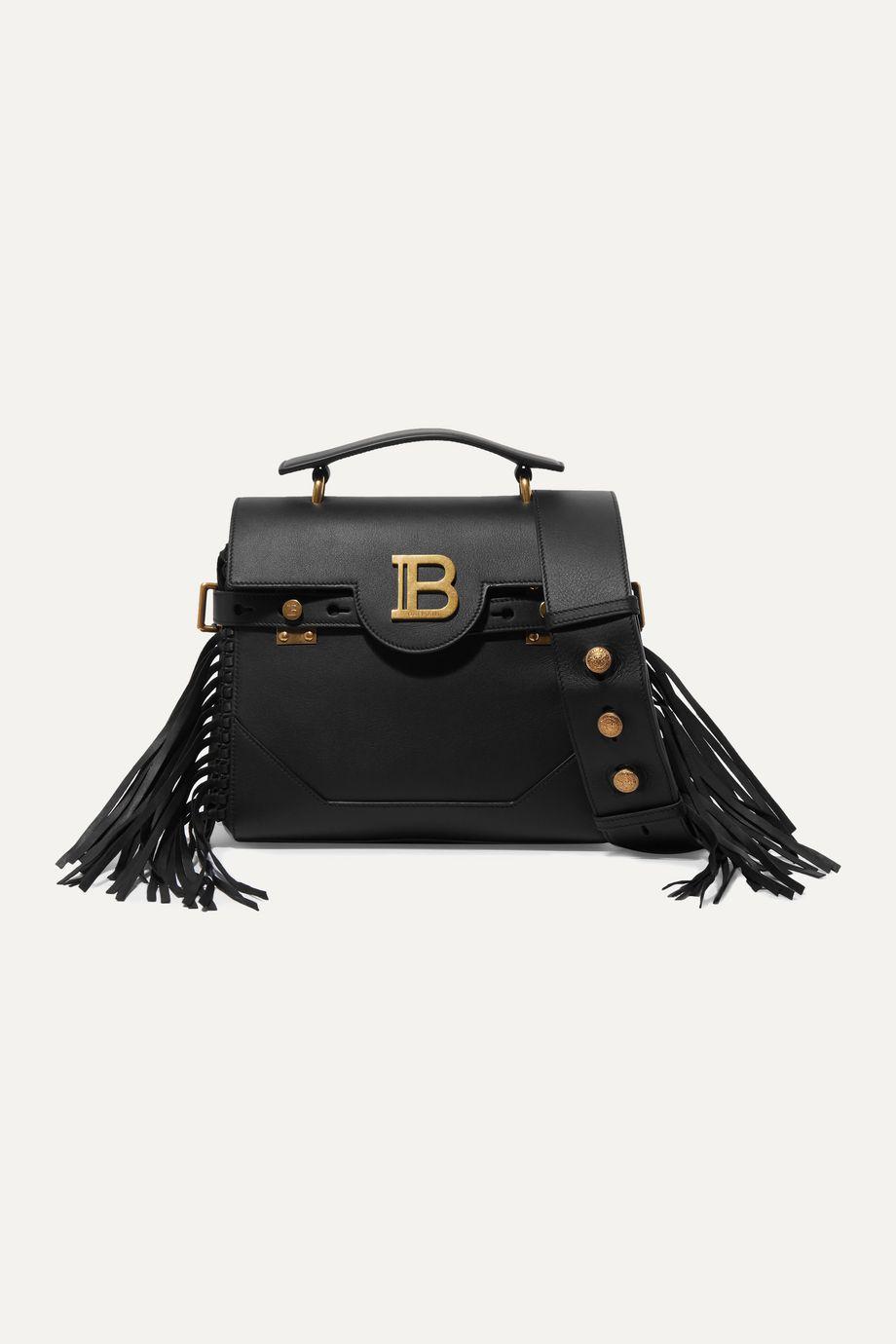 Balmain BBuzz fringed leather shoulder bag