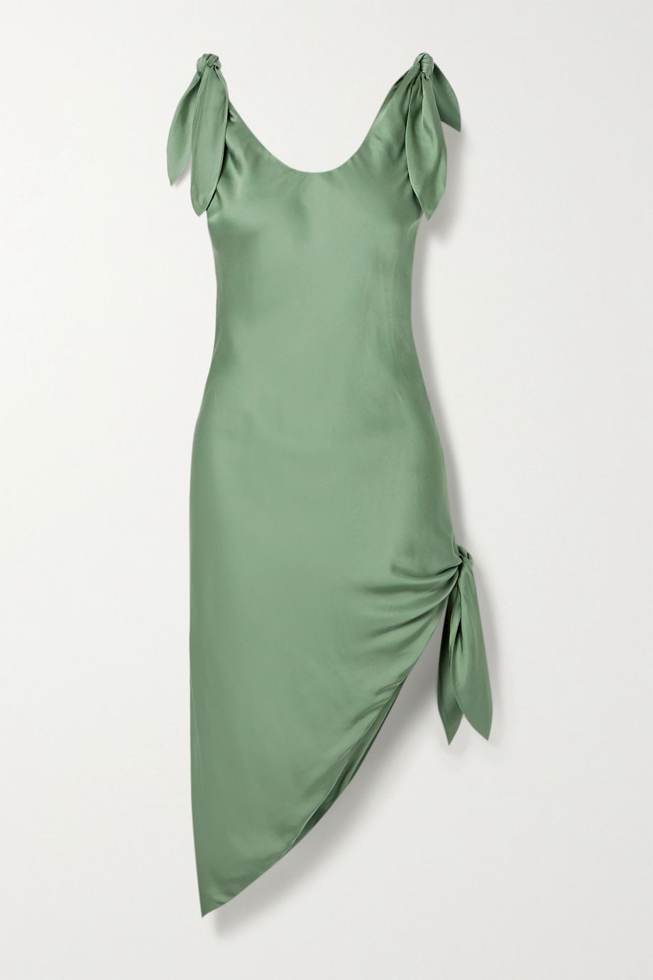Cult Gaia Delilah knotted satin dress