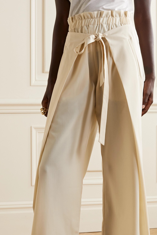Cult Gaia Naomi tie-front wool-blend wide-leg pants