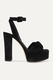 Giuseppe Zanotti Knotted suede platform sandals