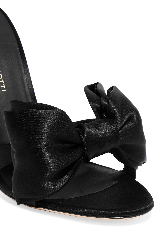 Giuseppe Zanotti Bow-embellished satin mules