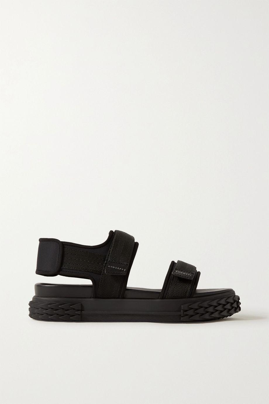 Giuseppe Zanotti Grosgrain-trimmed neoprene sandals