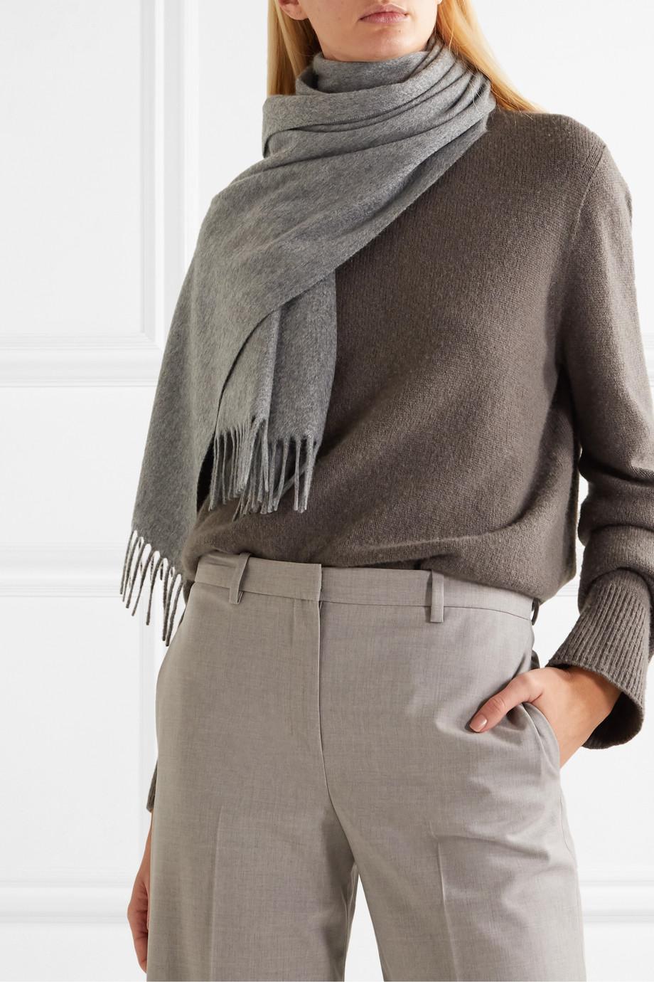 Loro Piana Sciarpa fringed cashmere scarf
