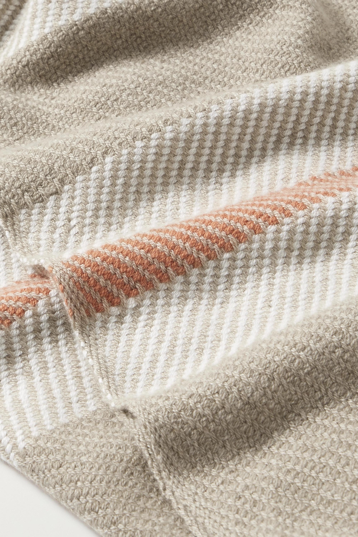 Loro Piana Fringed striped cashmere scarf