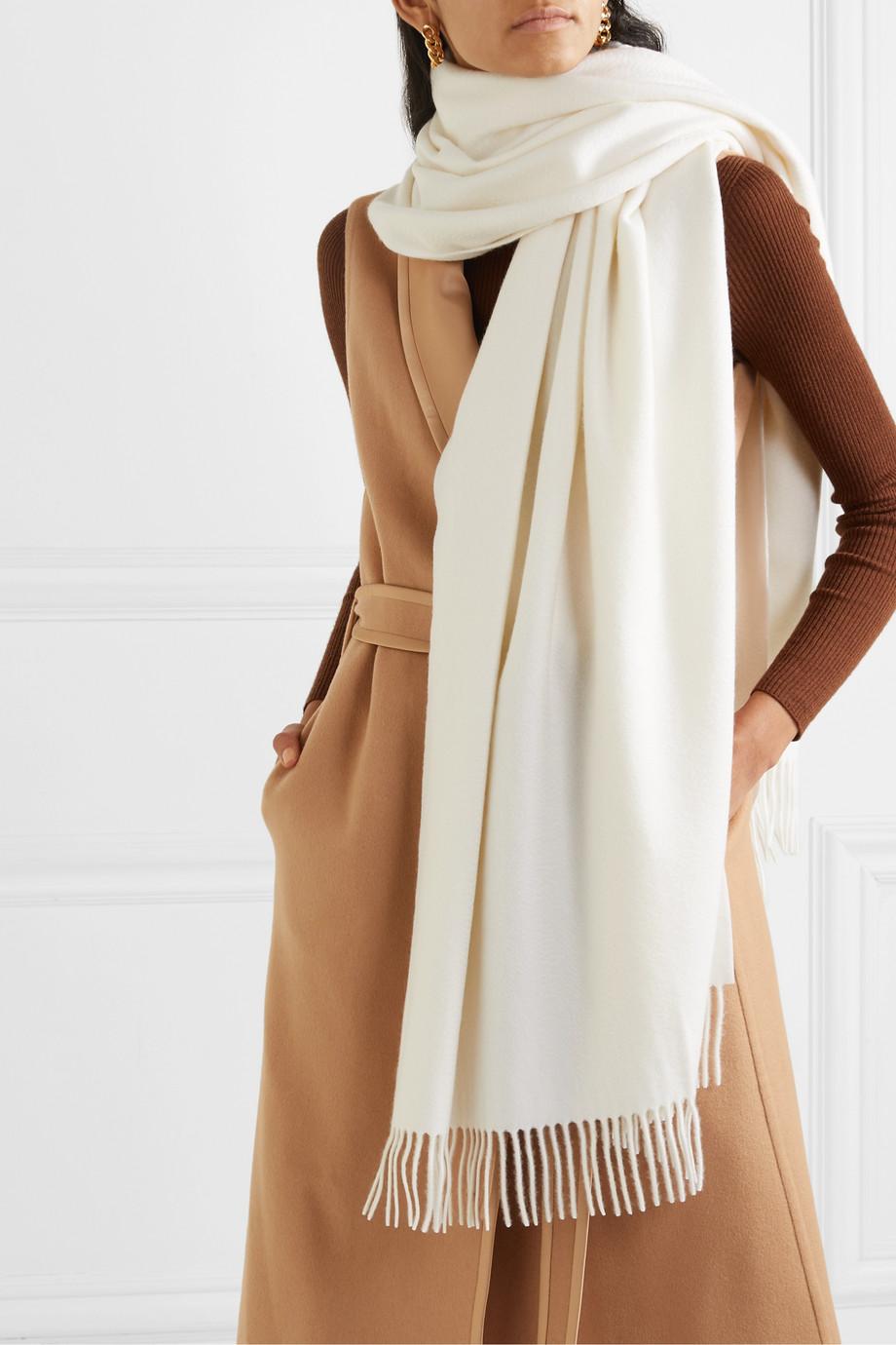 Loro Piana Fringed cashmere scarf
