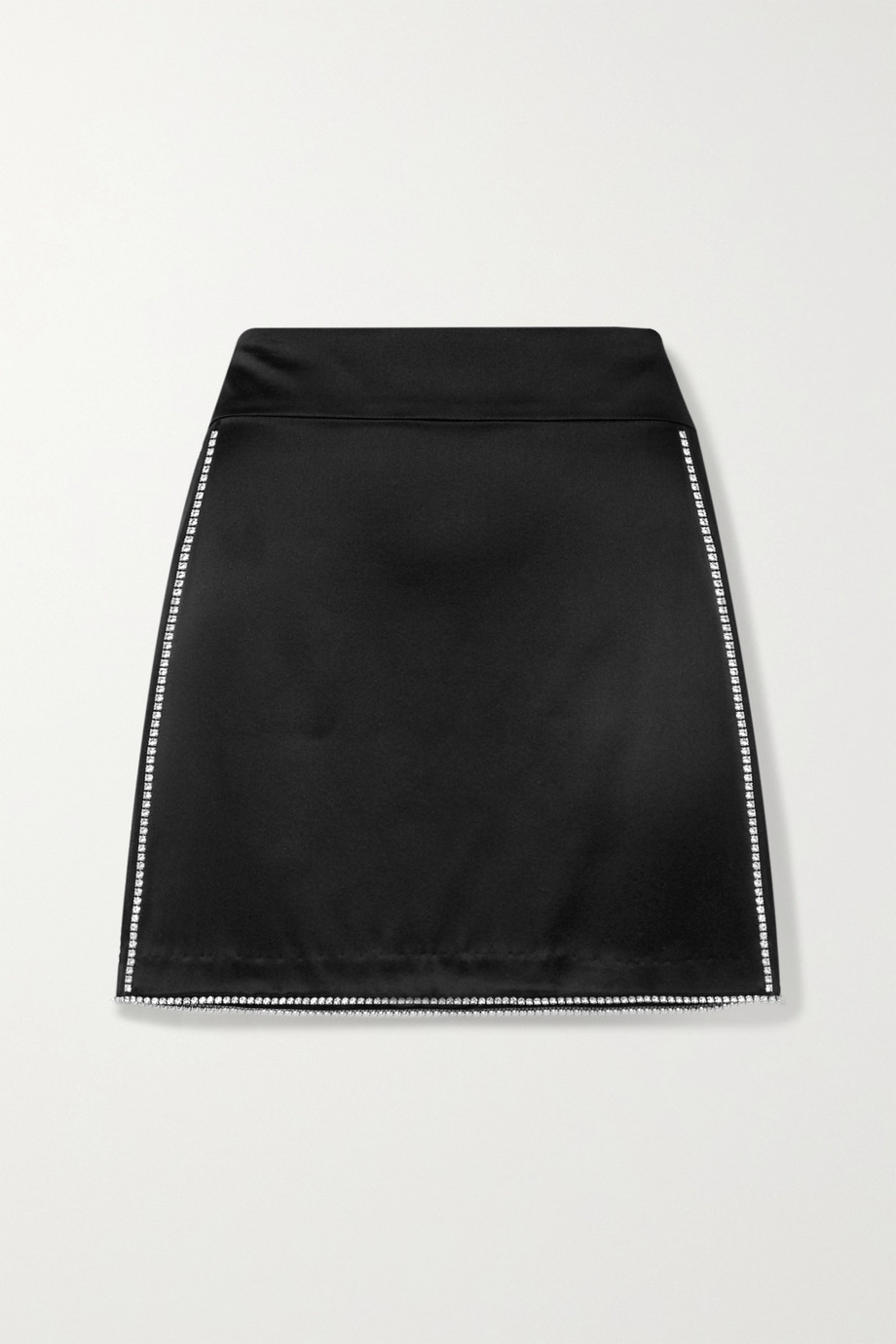 Michelle Mason Crystal-embellished silk-charmeuse mini skirt