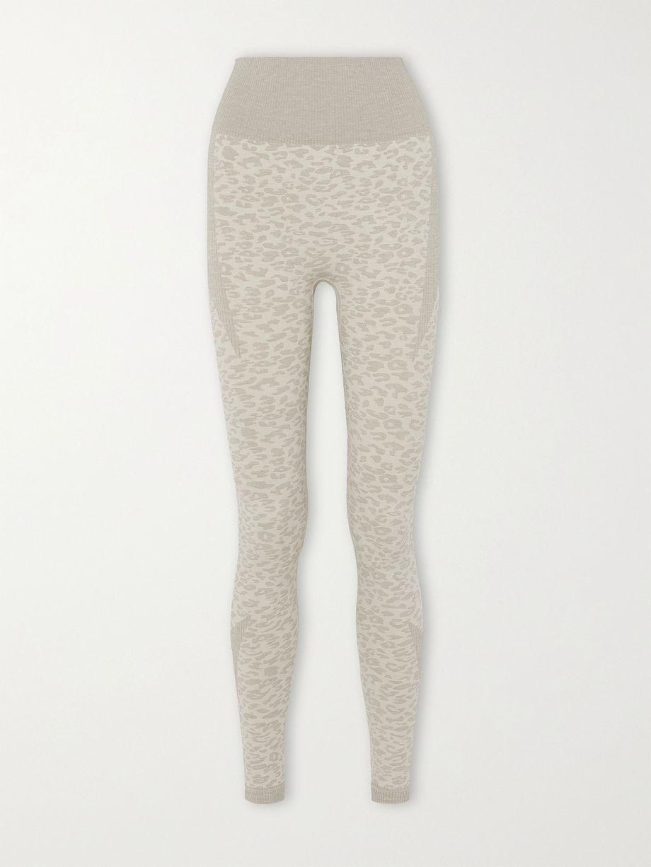 Varley Rosewood leopard-jacquard leggings