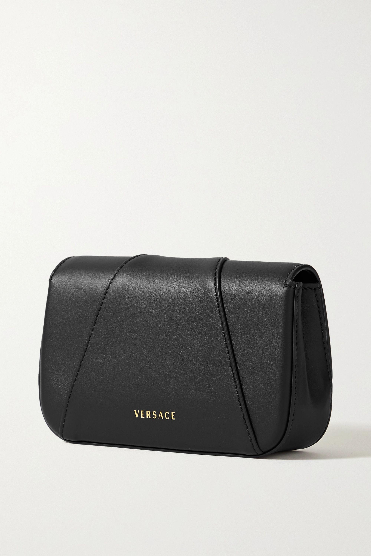 Versace Virtus 带缀饰皮革单肩包