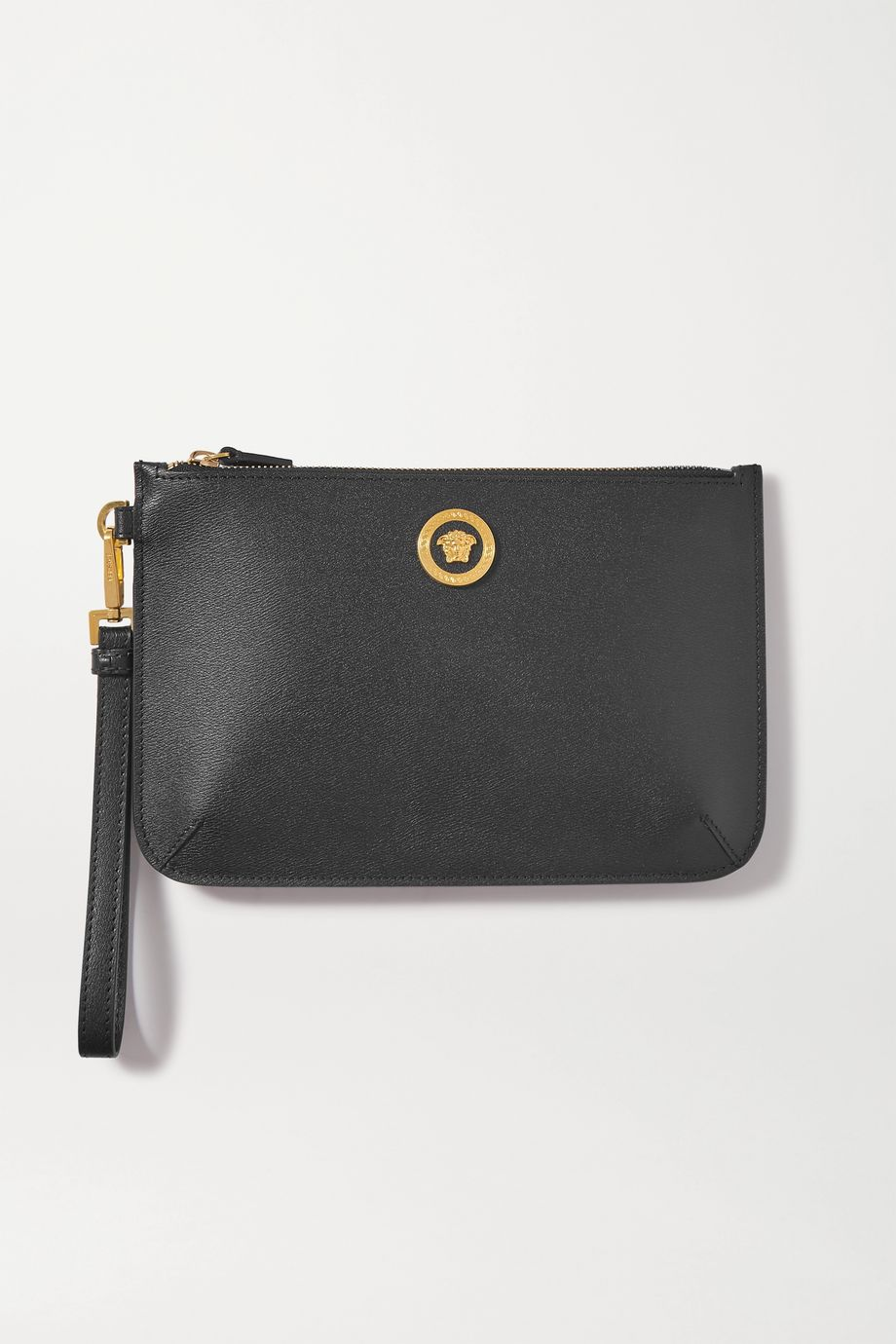 Versace Textured-leather pouch