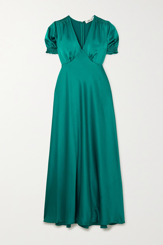 Diane von Furstenberg Avianna gathered satin maxi dress