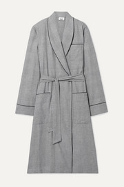 Prince of Wales checked cotton robe
