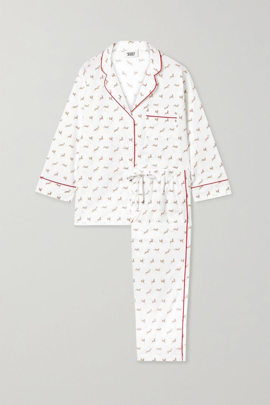 Sleepy Jones Marina printed cotton-poplin pajama set