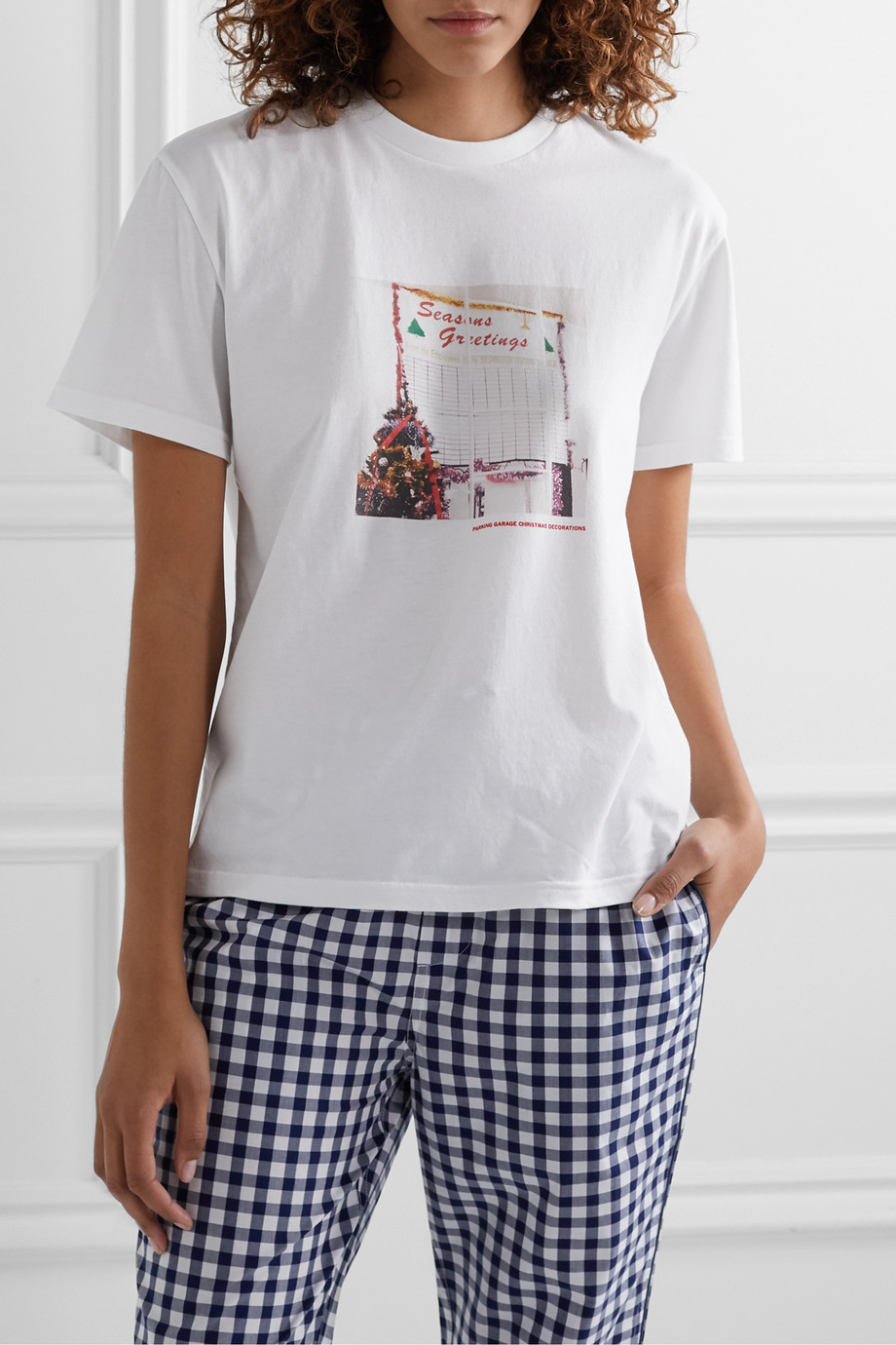 Sleepy Jones Jackson printed cotton-jersey T-shirt