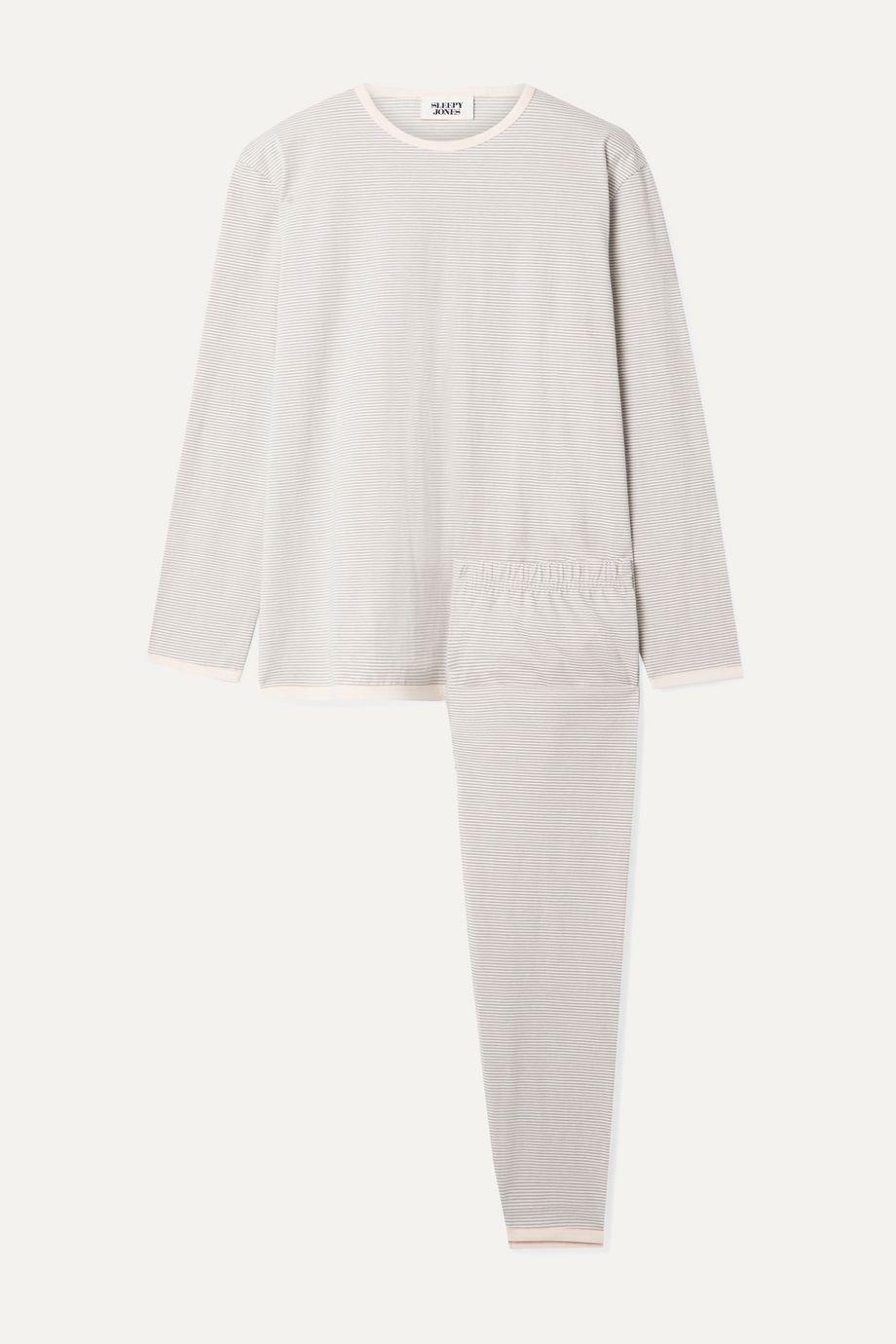 Sleepy Jones Brigitte striped cotton-jersey pajama set