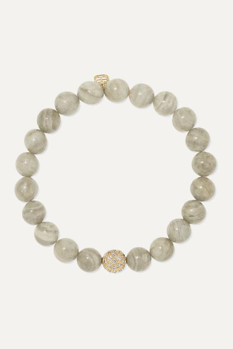 Gold 14-karat gold, jasper and diamond bracelet | Sydney Evan aZ81We