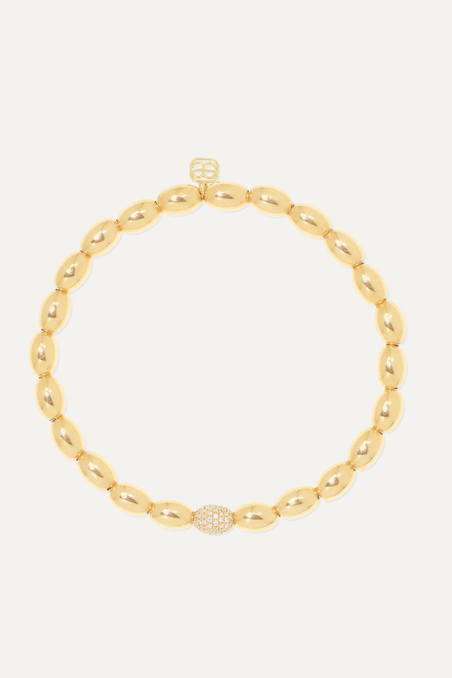 Sydney Evan 14-karat gold diamond bracelet
