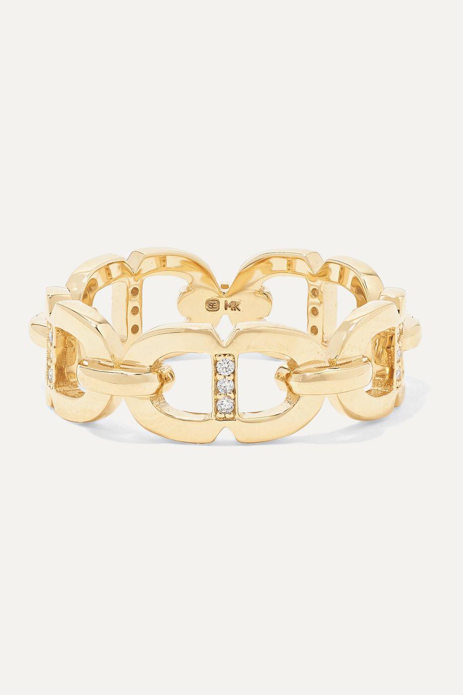 Sydney Evan 14-karat gold diamond ring