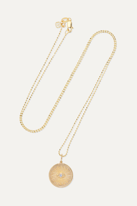 Sydney Evan Kette aus 14 Karat Gold mit Diamanten