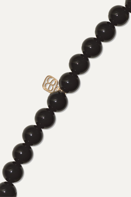 Sydney Evan Happy Face Armband aus 14 Karat Gold mit Onyxen und Diamanten