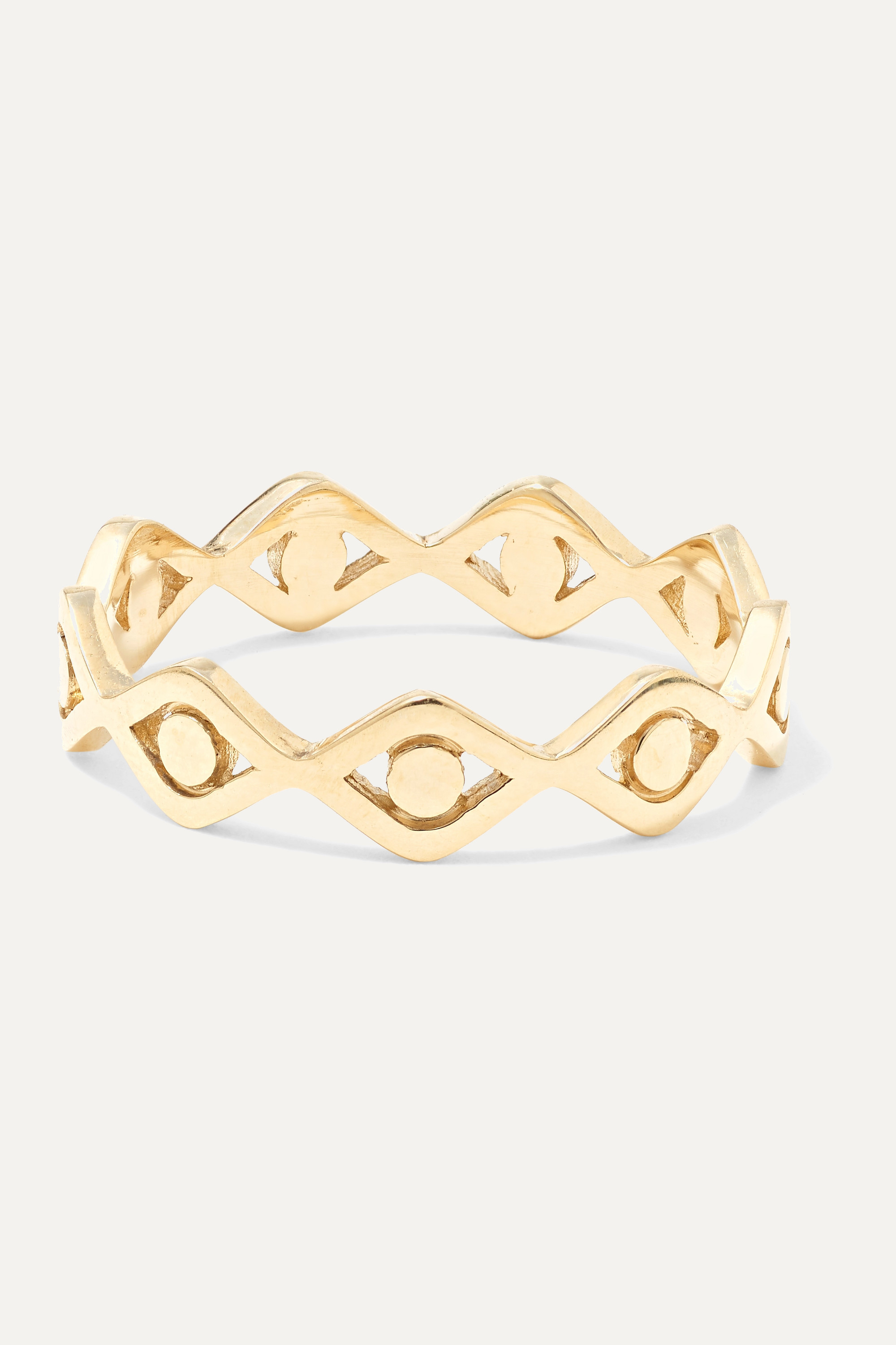 Sydney Evan Evil Eye 14-karat gold ring