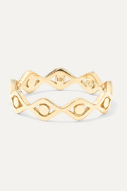 Evil Eye 14-karat gold ring