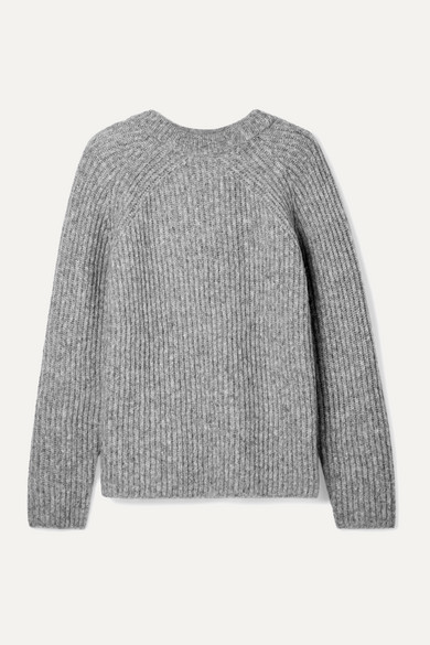 Ghost Ribbed Knit Sweater by Helmut Lang