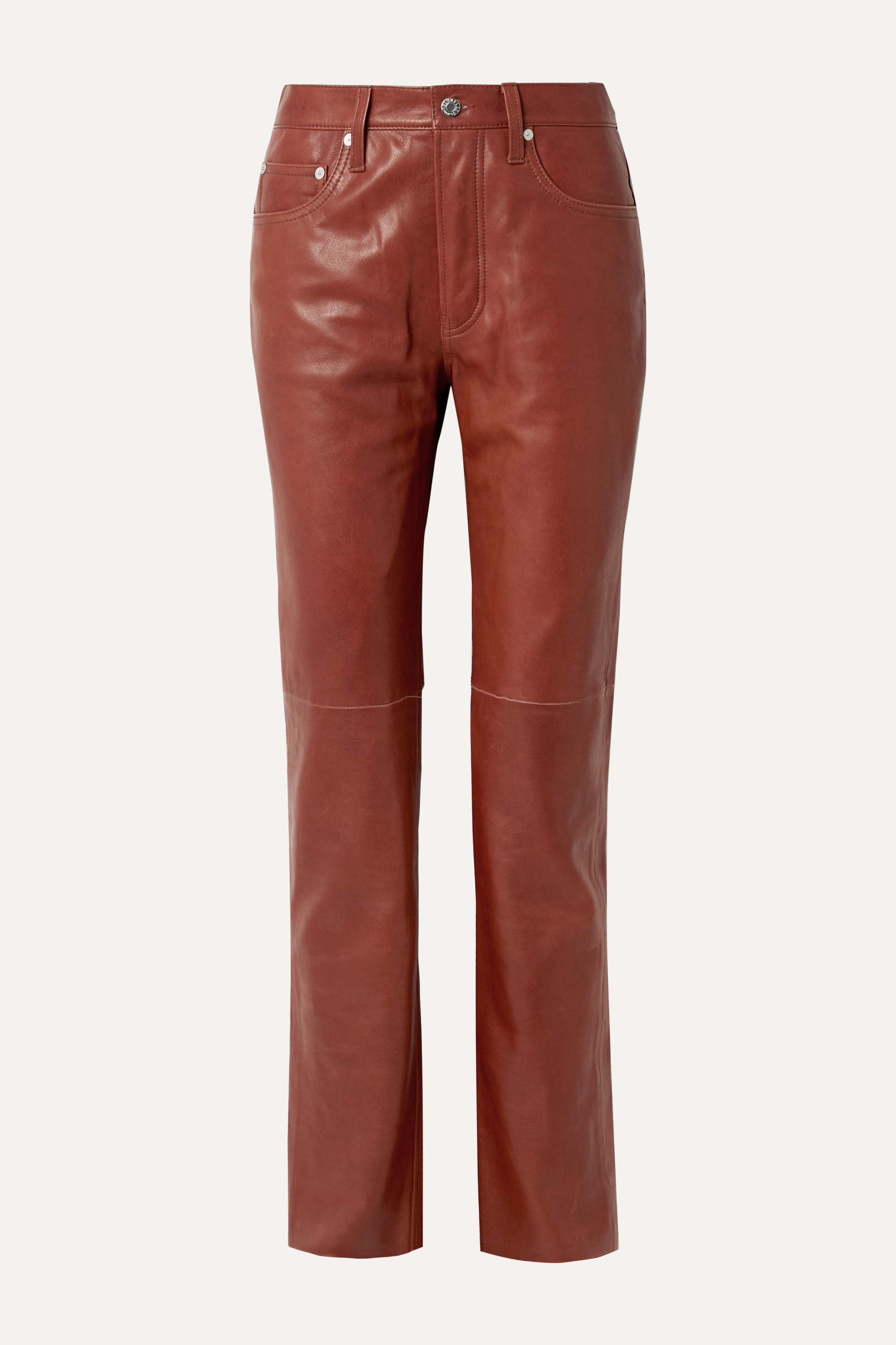 Leather straight-leg pants by Helmut-Lang, available on net-a-porter.com for $836 Kim Kardashian Pants Exact Product