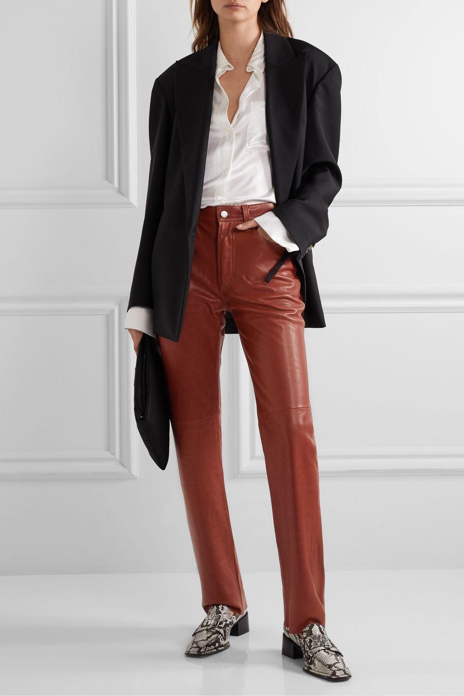 Helmut Lang 皮革直筒裤