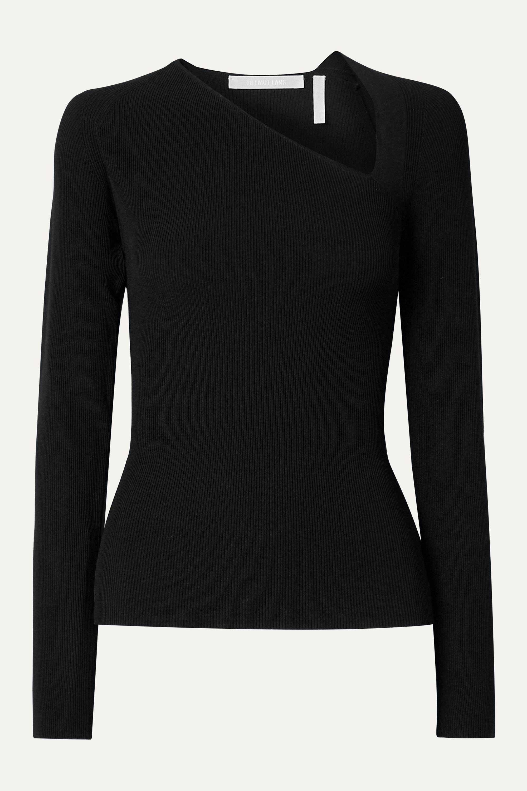 Helmut Lang Cutout ribbed-knit top
