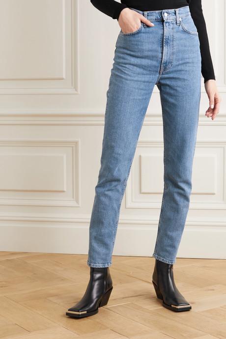 Femme Hi Spikes high-rise straight-leg jeans