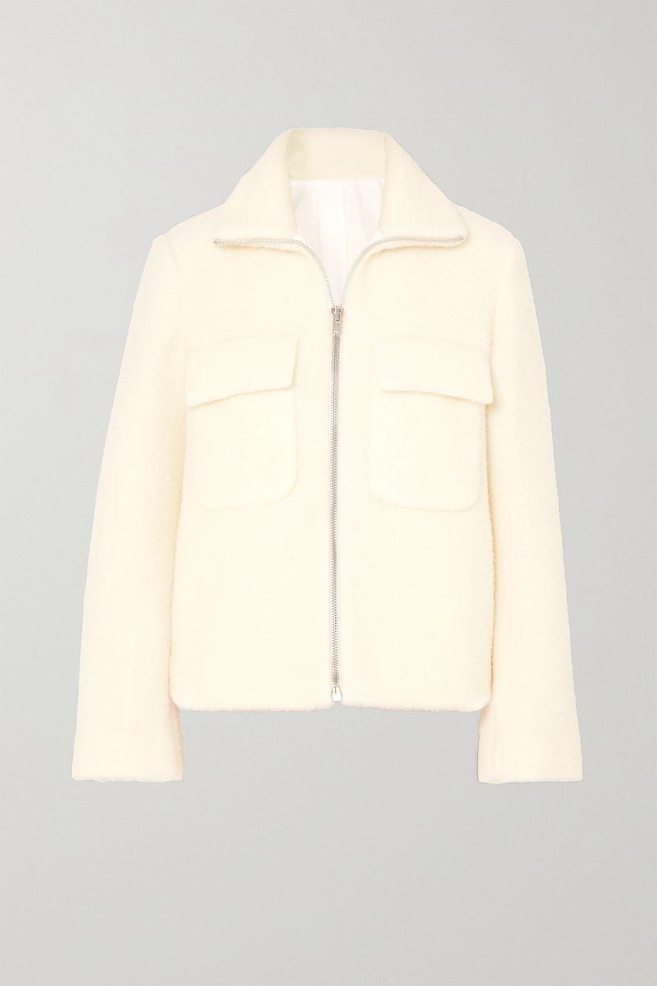 Helmut Lang Wool-blend bomber jacket