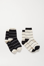 Kelly set of two striped stretch-knit socks
