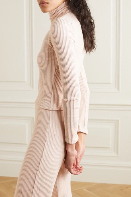 Alison ribbed stretch-jersey turtleneck top