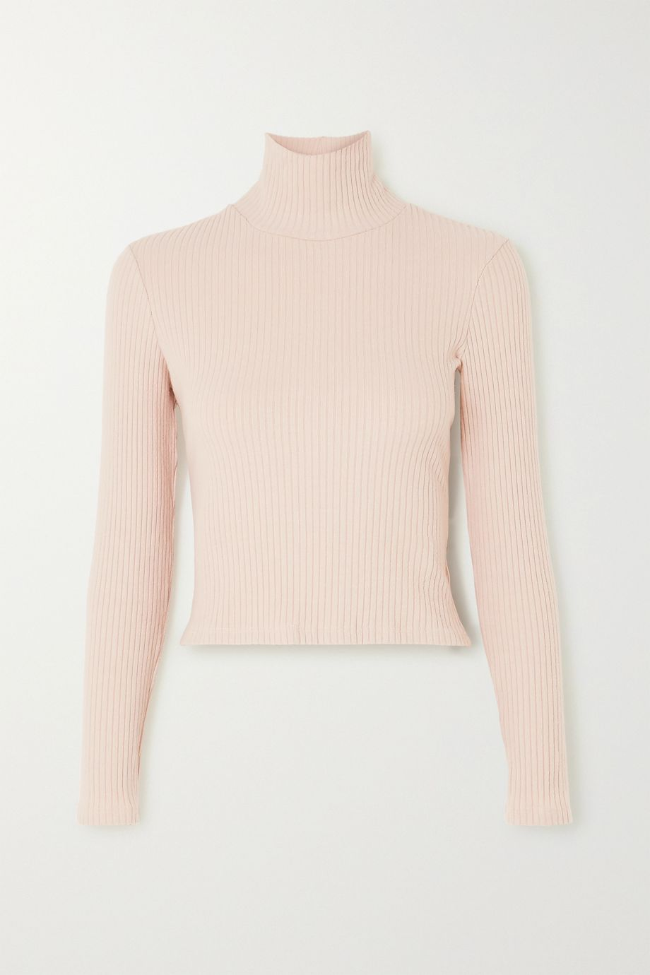 LESET Alison ribbed stretch-jersey turtleneck top